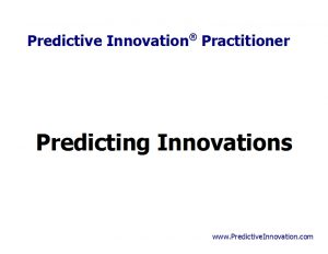 Predicting Innovations
