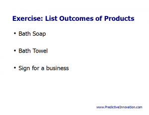 Outcomes of Product Exercise